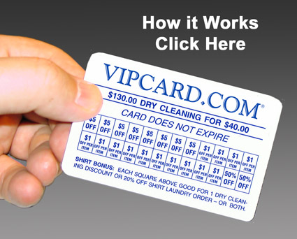 dry cleaning discount card